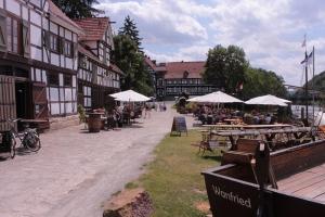 Pause im historischen Hafen Wanfried